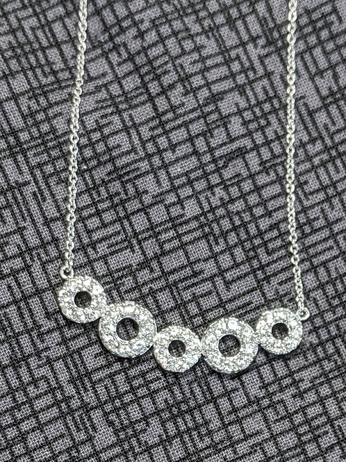 Aubrey Sterling Silver CZ Necklace