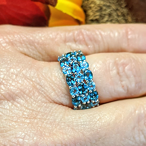 London & Swiss Blue Topaz Ring