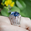 Thumbnail: Fluorite Ring with White Topaz Accents