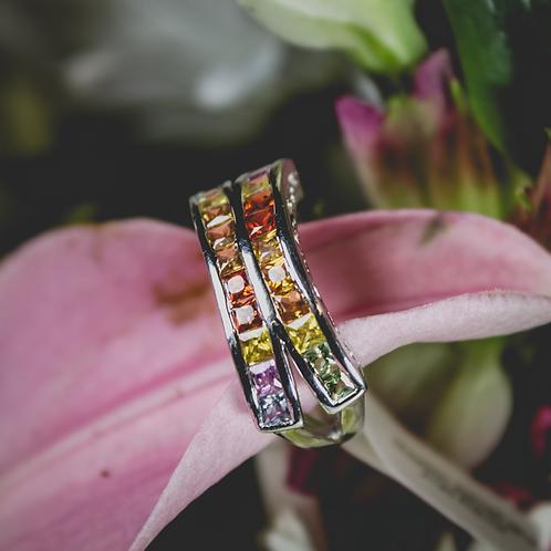 Double Rainbow Sapphire Ring