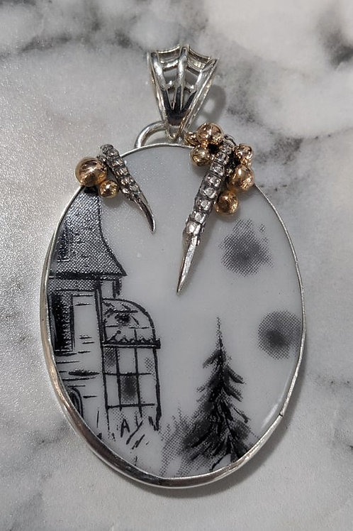Addam's Family House Pendant with Claw