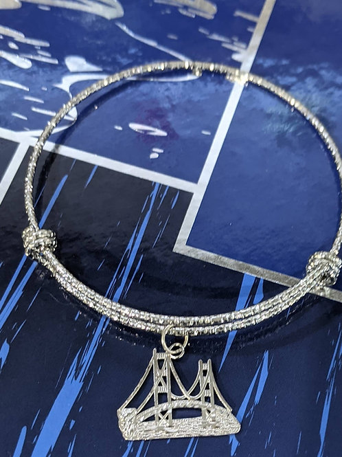 Mackinac Bridge Charm Adjustable Bracelet