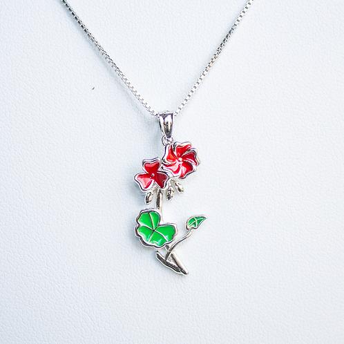 Mackinac Geranium Drop Necklace