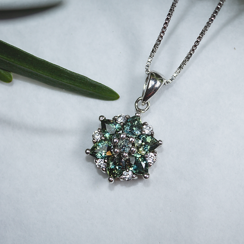 Alexandrite Necklace in Sterling Silver