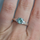 Thumbnail: Ice Blue Moissanite Platinum Ring