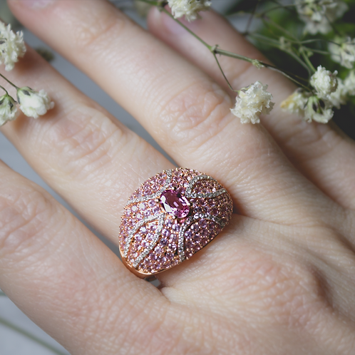 The Janet Pink Sapphire & Diamond Ring