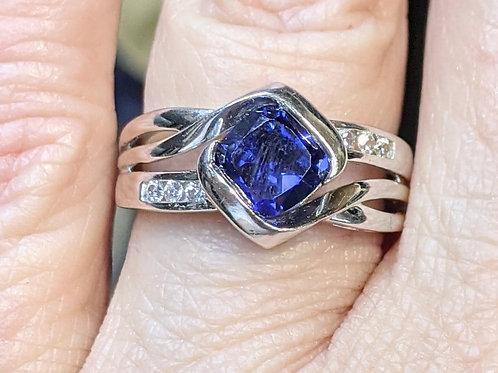 Lab-Created Blue Sapphire Ring