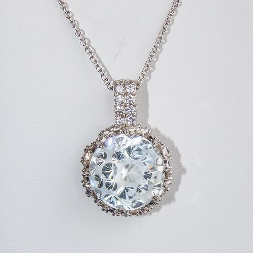 Fantasy-Cut Silver Topaz Necklace