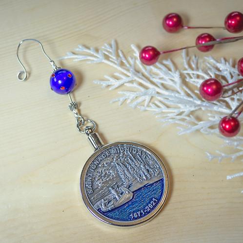 350th Commemorative St. Ignace Coin Ornament
