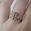 Thumbnail: Rainbow Sapphire Square Ring