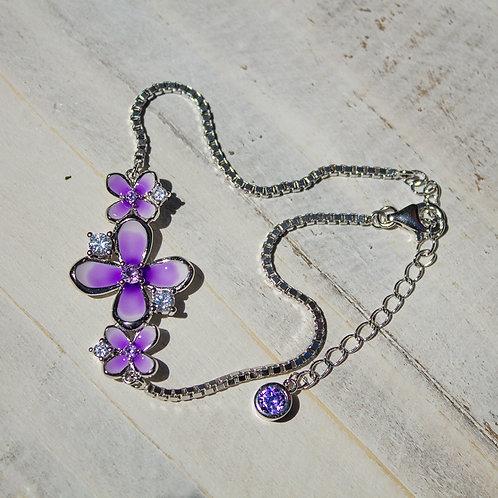Sterling Silver Lilac Blossom Bracelet