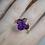 Thumbnail: Amethyst Flower Ring
