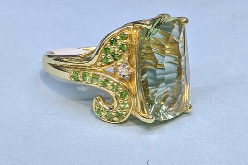 10kt Gold Garden Ring