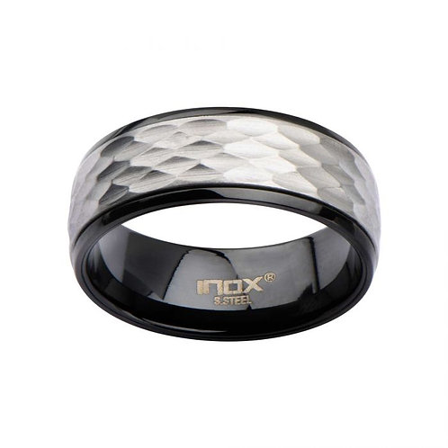 Steel Matte & Plated Black Spinner Ring