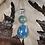 Thumbnail: Slag Glass Teardrop Necklace