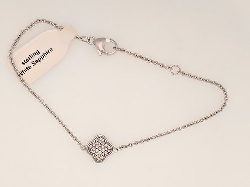 Bentelli Sterling Silver Flower Bracelet