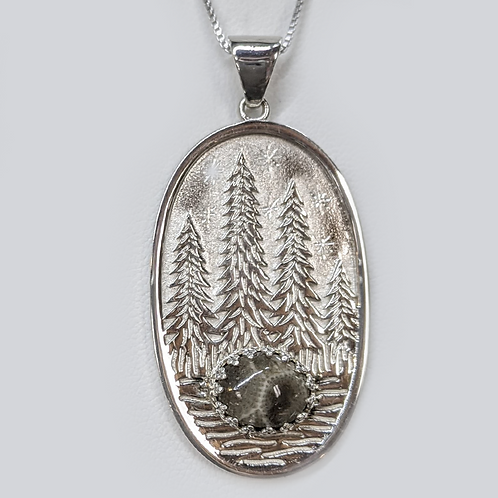Petoskey Stone Pines Necklace