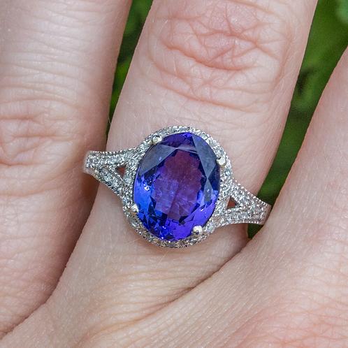 Freya Tanzinite & Diamond Ring