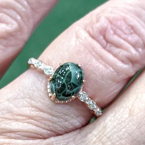 Rose Gold Michigan Greenstone Ring