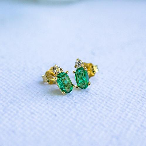Logan Emerald Earrings