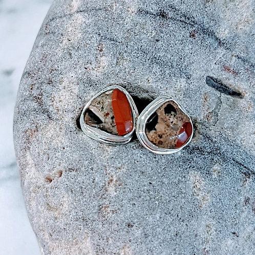 Pudding Stone Stud Earrings