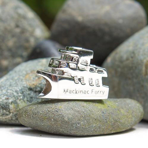 Mackinac Island Ferry Boat Bead