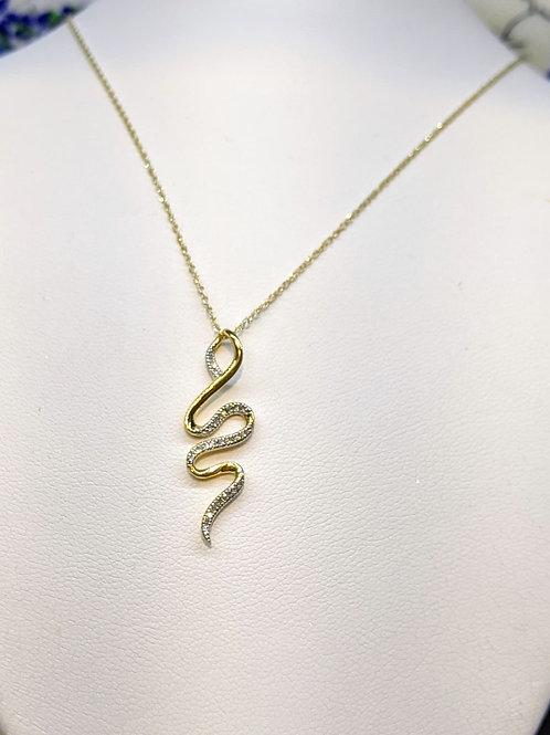 Gold Snake Design Necklace