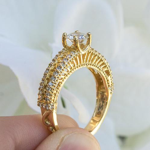 10kt Yellow Gold Bridge Ring .75ct TW