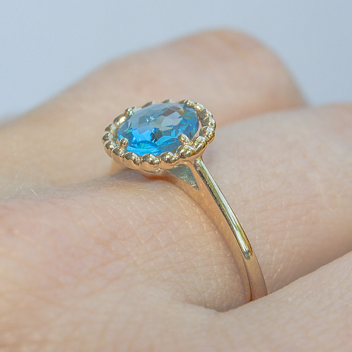Brienne Blue Topaz Ring