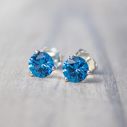 Blue Spinel Earrings