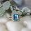 Thumbnail: Blue Topaz & Diamond Ring