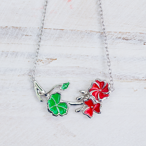 Mackinac Geranium Necklace