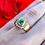 Thumbnail: Ruelle Vintage Emerald Ring