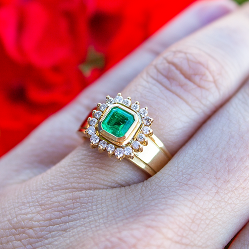 Ruelle Vintage Emerald Ring