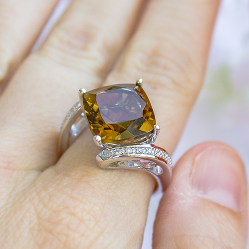 Dawn Citrine Ring