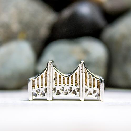 Mackinac Bridge Story Bead