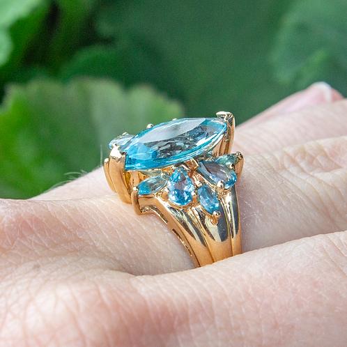 Doriana Blue Topaz Ring