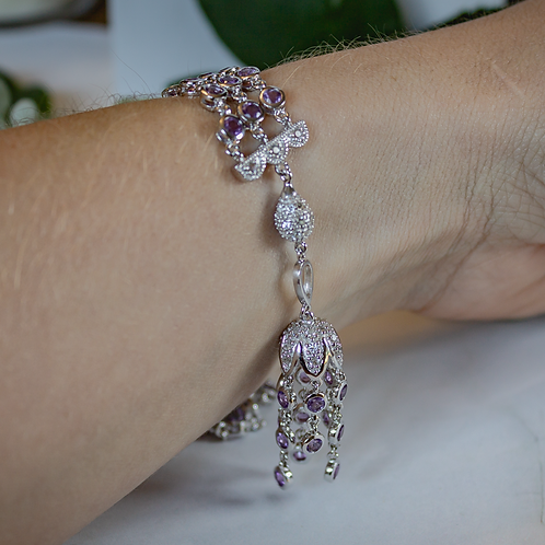 Vintage-Inspired Amethyst Bracelet