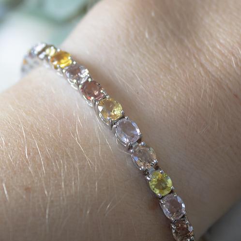Pink & Yellow Sapphires Bracelet