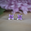 Thumbnail: Sterling Silver Lilac Stud Earrings