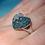 Thumbnail: Blue Diamond Heart Ring