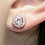 Thumbnail: Round Lab-Morganite Earrings