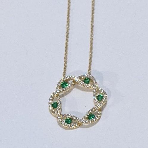 Emerald Wreath Necklace
