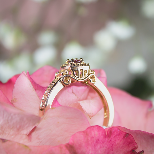 Pink Diamond Carriage Ring