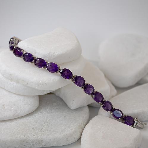 35ct Amethyst Bracelet