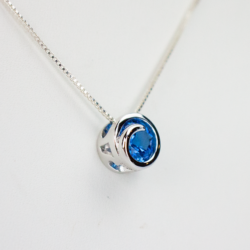 Blue Spinel Wave Necklace