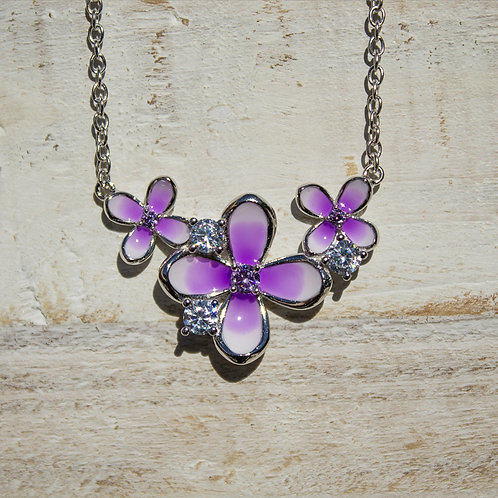 Sterling Silver Lilac Cluster Pendant