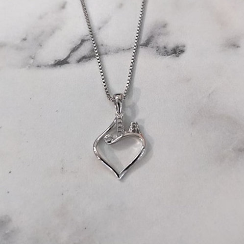 Small Bridge to Her Heart Tower Pendant