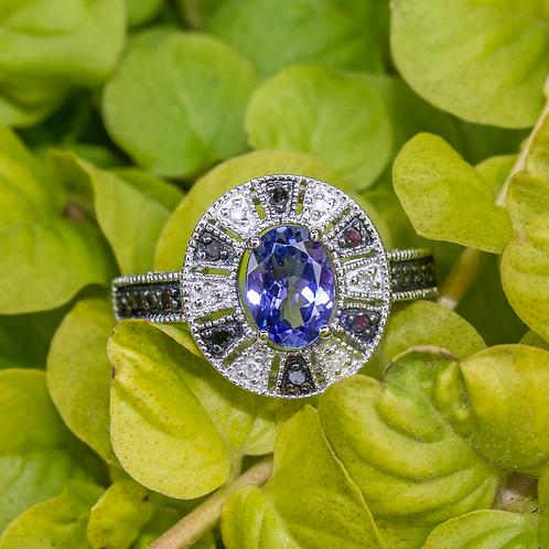 Hera Tanzinite & Diamond Ring