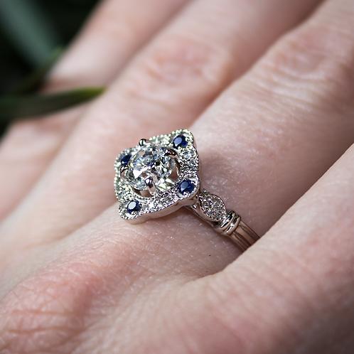 Aubrey Sapphire & Diamond Ring